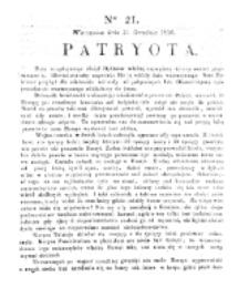Patryota. 1830, nr 21 (21 Grudnia)