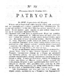 Patryota. 1830, nr 29 (31 Grudnia)