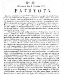Patryota. 1831, nr 31 (3 tycznia)