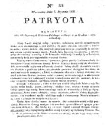 Patryota. 1831, nr 33 (5 Stycznia)