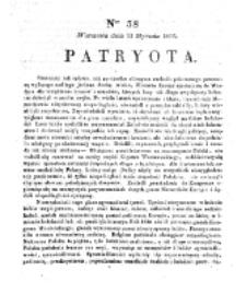 Patryota. 1831, nr 38 (11 Stycznia)