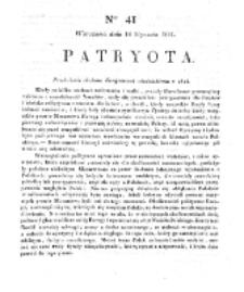 Patryota. 1831, nr 41 (14 Stycznia)