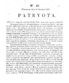 Patryota. 1831, nr 43 (16 Stycznia)