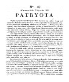 Patryota. 1831, nr 49 (22 Stycznia)