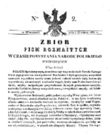 Zbiór Pism Rozmaitych Wychodzących w Czasie Powstania Narodu Polskiego.1830, nr 2 (8 Grudnia)