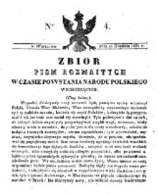 Zbiór Pism Rozmaitych Wychodzących w Czasie Powstania Narodu Polskiego.1830, nr 4 (10 Grudnia)