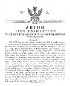 Zbiór Pism Rozmaitych Wychodzących w Czasie Powstania Narodu Polskiego.1830, nr 6 (12 Grudnia)