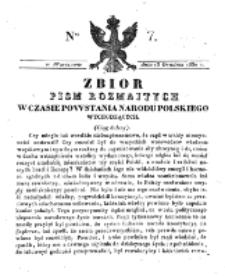 Zbiór Pism Rozmaitych Wychodzących w Czasie Powstania Narodu Polskiego.1830, nr 7 (13 Grudnia)