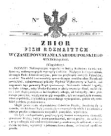 Zbiór Pism Rozmaitych Wychodzących w Czasie Powstania Narodu Polskiego.1830, nr 8 (14 Grudnia)