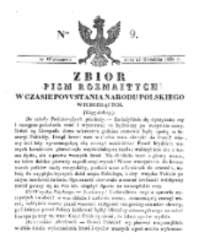 Zbiór Pism Rozmaitych Wychodzących w Czasie Powstania Narodu Polskiego.1830, nr 9 (15 Grudnia)