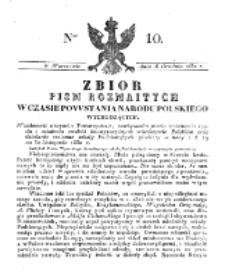 Zbiór Pism Rozmaitych Wychodzących w Czasie Powstania Narodu Polskiego.1830, nr 10 (16 Grudnia)