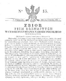 Zbiór Pism Rozmaitych Wychodzących w Czasie Powstania Narodu Polskiego.1830, nr 13 (19 Grudnia)