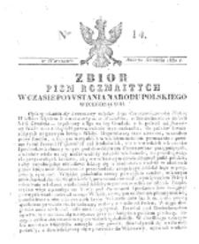 Zbiór Pism Rozmaitych Wychodzących w Czasie Powstania Narodu Polskiego.1830, nr 14 (20 Grudnia)