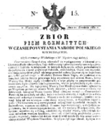 Zbiór Pism Rozmaitych Wychodzących w Czasie Powstania Narodu Polskiego.1830, nr 15 (21 Grudnia)