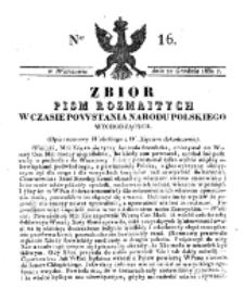 Zbiór Pism Rozmaitych Wychodzących w Czasie Powstania Narodu Polskiego.1830, nr 16 (22 Grudnia)