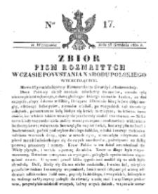 Zbiór Pism Rozmaitych Wychodzących w Czasie Powstania Narodu Polskiego.1830, nr 17 (23 Grudnia)