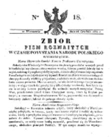 Zbiór Pism Rozmaitych Wychodzących w Czasie Powstania Narodu Polskiego.1830, nr 18 (24 Grudnia)