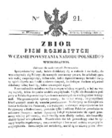 Zbiór Pism Rozmaitych Wychodzących w Czasie Powstania Narodu Polskiego.1830, nr 21 (29 Grudnia)