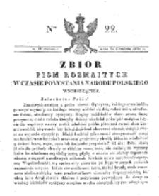 Zbiór Pism Rozmaitych Wychodzących w Czasie Powstania Narodu Polskiego.1830, nr 22 (30 Grudnia)