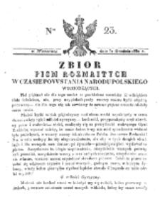 Zbiór Pism Rozmaitych Wychodzących w Czasie Powstania Narodu Polskiego.1830, nr 23 (31 Grudnia)