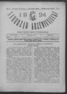 Samorząd Krzemieniecki. R. 2, nr 13 (15 kwietnia 1924)