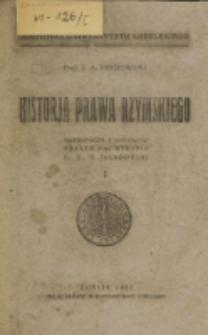 Historja prawa rzymskiego. 1