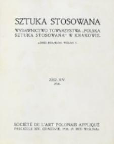 Sztuka Stosowana. Z. 14 (1910)
