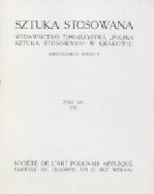 Sztuka Stosowana. Z. 15 (1911)