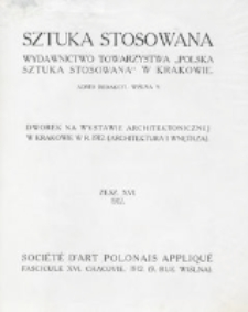 Sztuka Stosowana. Z. 16 (1912)