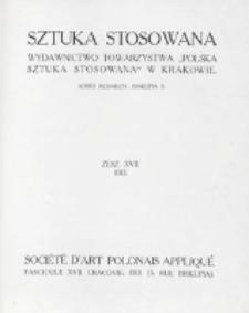 Sztuka Stosowana. Z. 17 (1913)