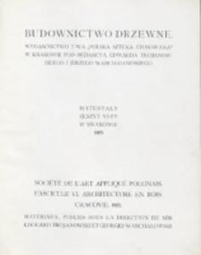 """Materyały : wydawnictwo Towarzystwa """"Polska Sztuka Stosowana"""" w Krakowie. Z. 6 (1905)"""