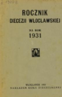 Rocznik Diecezji Włocławskiej na Rok 1931