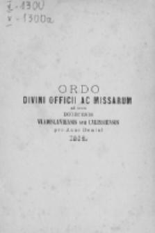 Ordo Divini Officii ad usum Universi Cleri Sæcularis Dioecesis Vladislaviensis seu Calissiensis pro Anno 1883