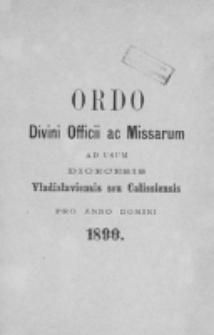 Ordo Divini Officii ad usum Universi Cleri Sæcularis Dioecesis Vladislaviensis seu Calissiensis pro Anno 1890