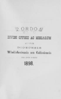 Ordo Divini Officii ad usum Universi Cleri Sæcularis Dioecesis Vladislaviensis seu Calissiensis pro Anno 1898