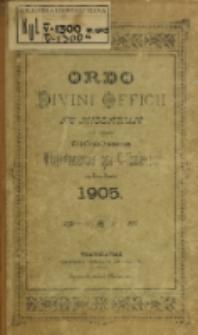 Ordo Divini Officii ad usum Universi Cleri Sæcularis Dioecesis Vladislaviensis seu Calissiensis pro Anno 1905