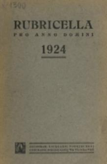Ordo Divini Officii ad usum Universi Cleri Sæcularis Dioecesis Vladislaviensis seu Calissiensis pro Anno 1924