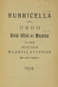 Ordo Divini Officii ac Missarum ad usum Dioecesis Wladislaviensis pro Anno Domini 1934