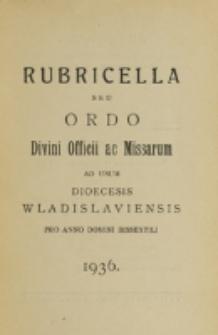 Ordo Divini Officii ac Missarum ad usum Dioecesis Wladislaviensis pro Anno Domini 1936