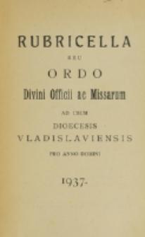 Ordo Divini Officii ac Missarum ad usum Dioecesis Wladislaviensis pro Anno Domini 1937