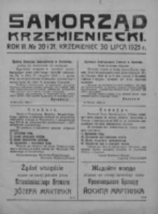 Samorząd Krzemieniecki. R. 3, nr 20/21 (30 lipca 1925)