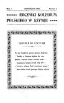 Roczniki Kolegium Polskiego w Rzymie. R. 1, nr 1 (kwiecień 1902)