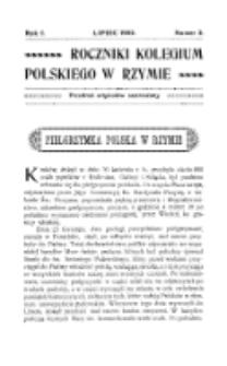 Roczniki Kolegium Polskiego w Rzymie. R. 1, nr 2 (lipiec 1902)