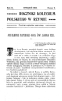 Roczniki Kolegium Polskiego w Rzymie. R. 2, nr 2 (styczeń 1903)