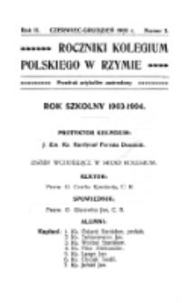 Roczniki Kolegium Polskiego w Rzymie. R. 2, nr 3 (czerwiec/grudzień 1903)