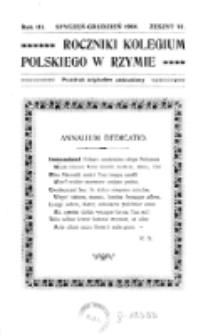 Roczniki Kolegium Polskiego w Rzymie. R. 3, z. 6 (styczeń/grudzień 1904)