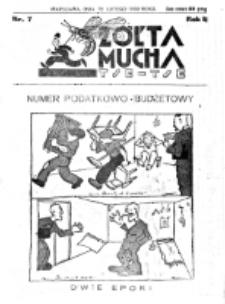 Żółta Mucha Tse-Tse. R. 2, nr 7 (12 lutego 1930)