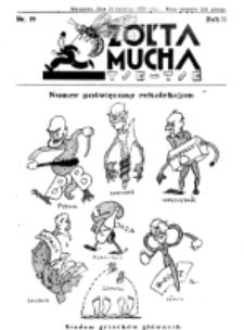 Żółta Mucha Tse-Tse. R. 2, nr 19 (14 kwietnia 1930)
