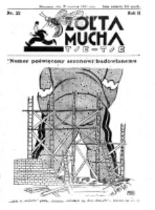 Żółta Mucha Tse-Tse. R. 2, nr 22 (28 kwietnia 1930)