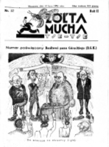 Żółta Mucha Tse-Tse. R. 2, nr 37 (22 lipca 1930)